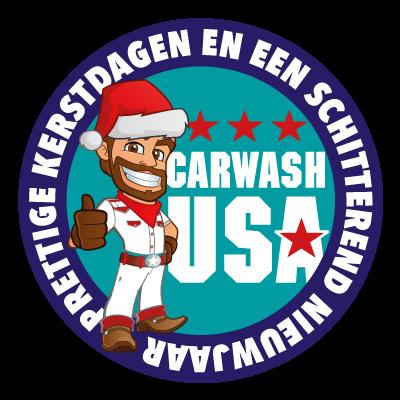 Kerst sticker Carwash USA 2016